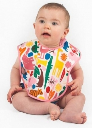 A Day at the Zoo Bib- Pink