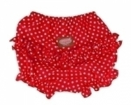 Red Dot Ruffle Pants