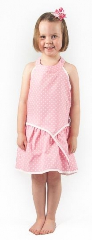 Pink Dot Halter Neck Dress
