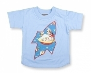 Retro Space T Shirt in Light Blue