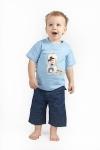 Lil Cowpoke T Shirt in Light Blue