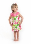 Disco Dot Yoke Dress