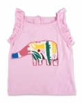 Pink Zoo Elephant Singlet