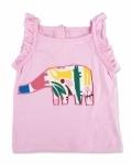 Pink Zoo Elephant Singlet