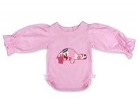 Pink Zoo Tortoise Long Sleeve Ruffle Top