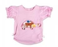 Pink Zoo Tortoise RuffleT shirt