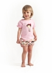 Yui Kosheshi Doll T Shirt in Light Pink