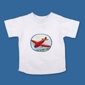 Transport T Shirt Red Aeroplane