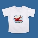 Transport T Shirt Red Aeroplane