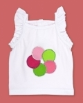 Disco Dot White Singlet