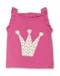 Ruby Rosebud Princess Crown Singlet