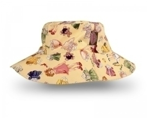 Paper Doll Hat in Yellow