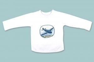 Blue Aeroplane Long Sleeve T Shirt