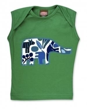 Green Elephant Singlet