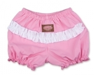 Light Pink with White Ruffle Pants