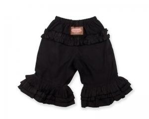 Black Long Ruffle Pants