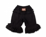 Black Long Ruffle Pants
