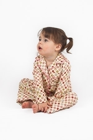 Vintage Dot Winter Pyjamas