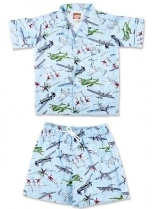 Vintage Plane Summer Pyjamas