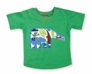 Vintage Kid - Green Elephant T