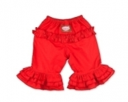 Red Long Ruffle Pants