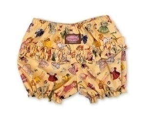 Yellow Paper Doll Short Ruffle Pants