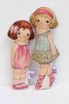 Chloe and Elizer Dolls by Retrobird
