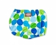 Blue Disco Dot Nappy cover