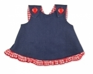 Girls Denim cross over swing top
