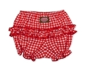 Red Gingham Ruffle Pants