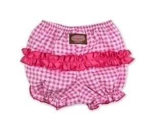 Pink Gingham Ruffle Pants
