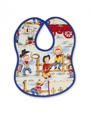 Lil Cowpokes Bib with Blue binding