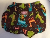 Dinosaur Nappy Cover (brown)