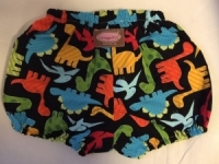 Dinky Dino on Black Nappy Cover
