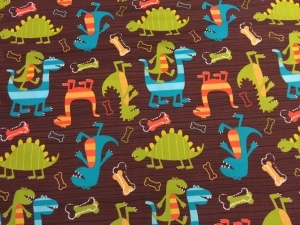 Dinosaur Bib in brown