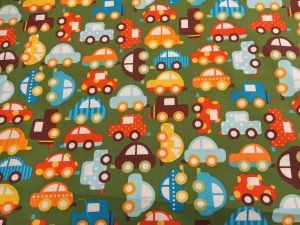 Groovy Cars in Green Bib