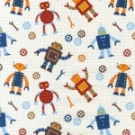 Robot Factory Organic Cotton Fabric