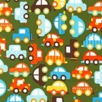 Ready Set Go Cars Organic Fabric