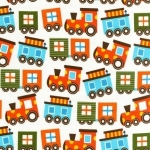 Ready Set Go Trains Organic Fabric