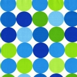 Disco Dots Blue Fabric