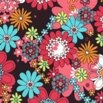 Peace Flowers Fabric