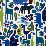 Blue Zoo Fabric