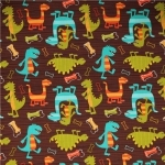 Dino Dudes Cotton Flannel Fabric