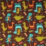 Dino Dudes Cotton Flannel Fabric